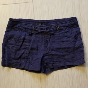 Sanctuary navy linen shorts